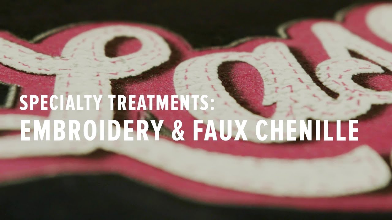 Specialty T Shirt Treatment Embroidery Faux Chenille Youtube