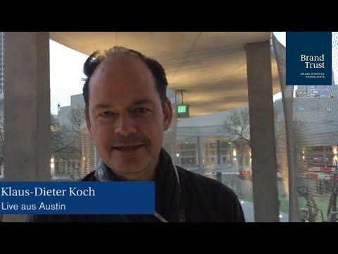 Klaus-Dieter Koch teilt seine Erkenntnisse des 1. Konferenztages der SXSW 2018