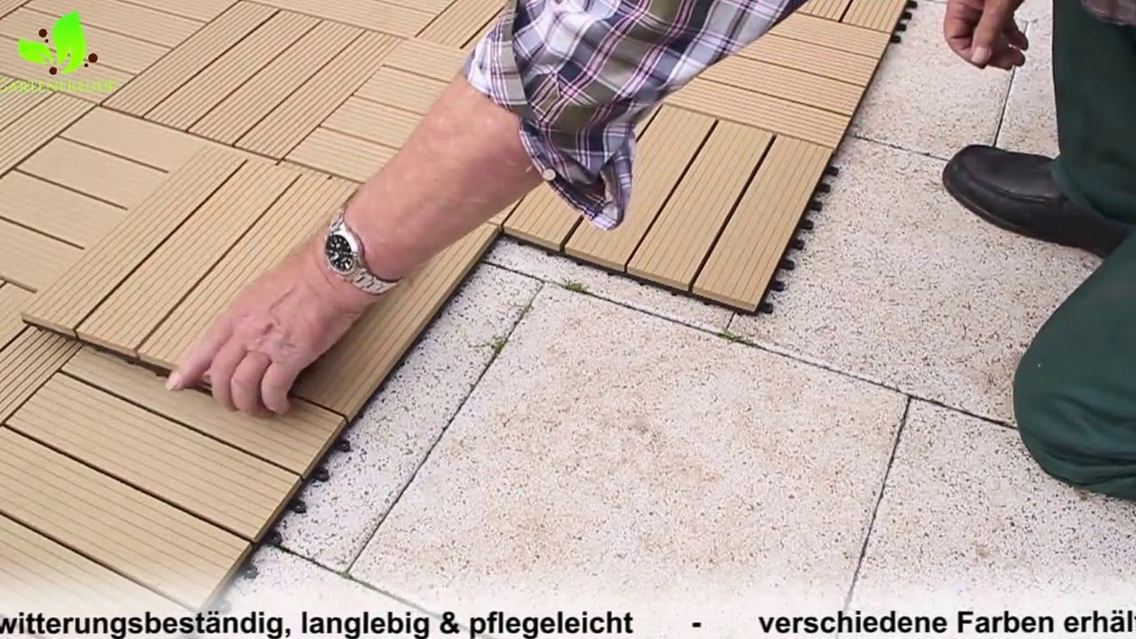 Wpc Fliesen Online Shop Videos Gartenfreude