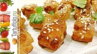 Куриная грудка и рыба в медовом соевом маринаде
