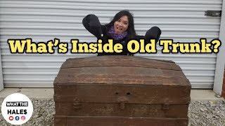 FOUND A TRUNK I Bought Abandoned Storage Unit Locker / Opening Mystery Boxes Storage Wars Auction