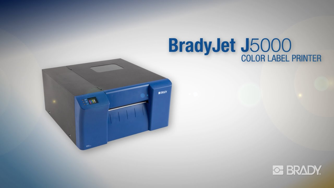 NEW! The BradyJet J5000 Industrial Inkjet Color Label Printer - Overview