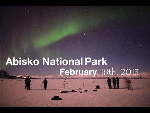 Aurora Borealis over Abisko National Park Feburary 18th 2013 [HD]