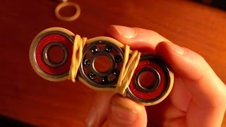 HOW TO MAKE A FIDGET SPINNER WITH RUBBER BANDS EASY