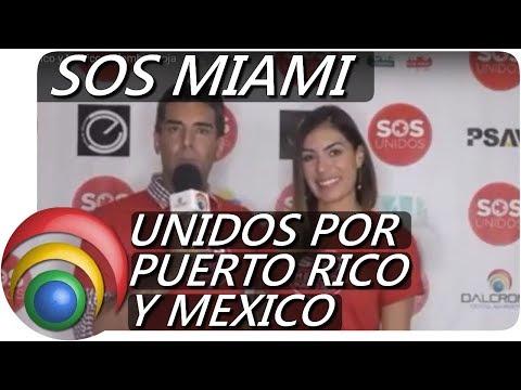 SOS Unidos por Puerto Rico y Mexico. Alfombra Roja