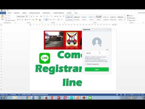 Como registrarse en Line