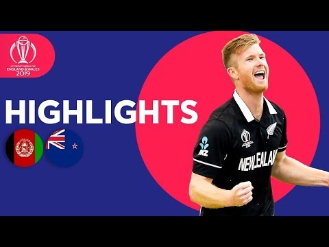 Neesham Takes 5-31 | Afghanistan vs New Zealand - Match Highlights | ICC Cricket World Cup 2019