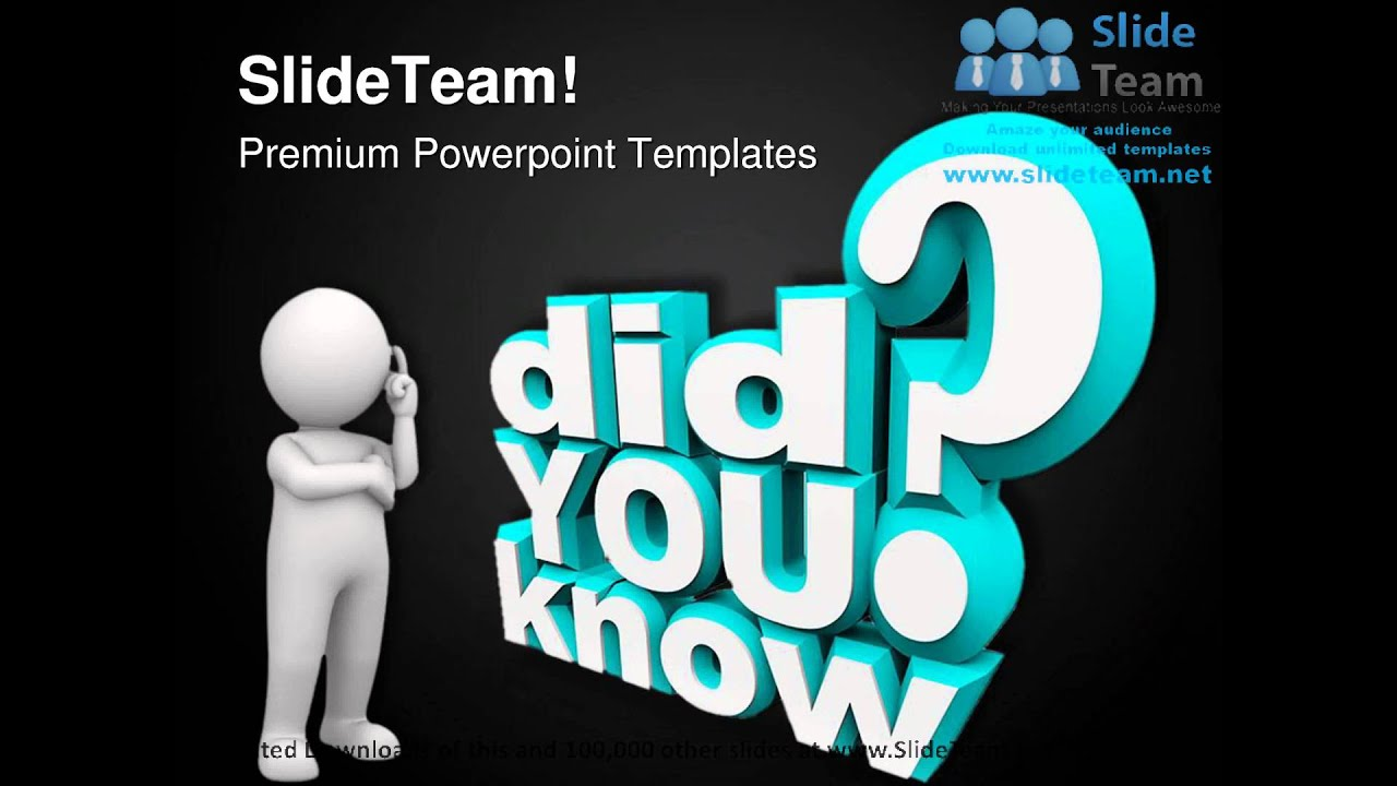 did you know communication powerpoint templates themes and