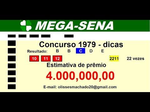 mega sena concurso 1979 dicas