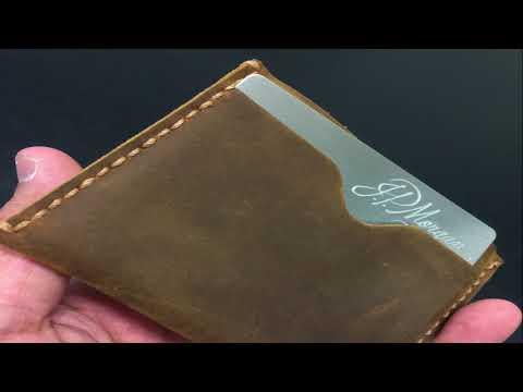 Kinzd RFID Leather Wallets & Carbon Fiber Money Clip