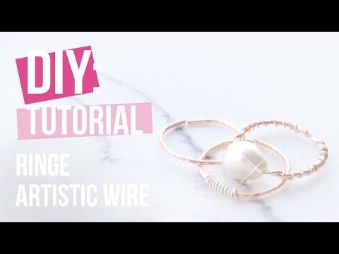 Schmuck machen: Artistic Wire Ringe ♡ DIY