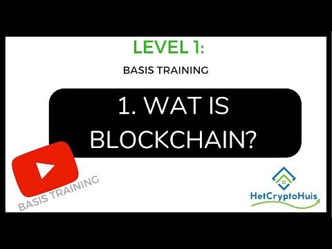 [LEVEL 1] 1. Wat is Blockchain? | Basis training | Het Crypto Huis |