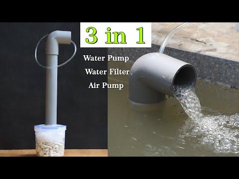3 In 1 Aquarium Air Pumps, Water Pump, Water Filter For Fish Tank