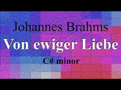 Von ewiger Liebe - Johannes Brahms - Piano accompaniment - C# minor