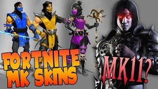 MORTAL KOMBAT 11 AND MK SKINS IN FORTNITE NEXT TO BRAND NEW!!? - MaxiLunaPMY