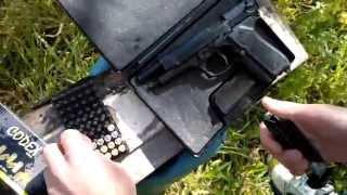 bruni MOD - beretta m92f - 9mm P.A.K (Shooting test!)