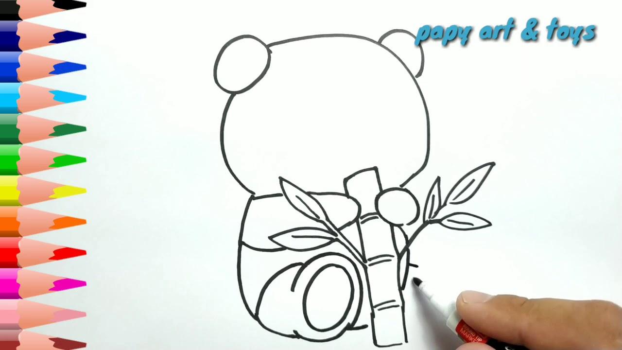 AJAIB Belajar Cara Menggambar PANDA LUCU Mewarnai Kartun Dengan Mudah Anak Indonesia Menggambar