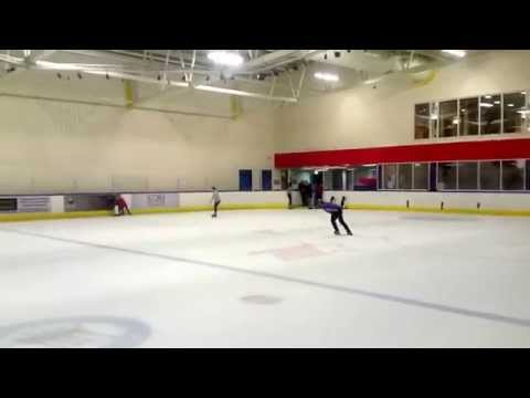 Skating at Aberdeen ice rink 15th August 2015