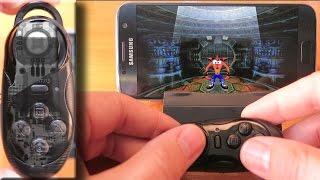 Samsung Galaxy S7 and mini gamepad (iBlue) with PS1 emulator