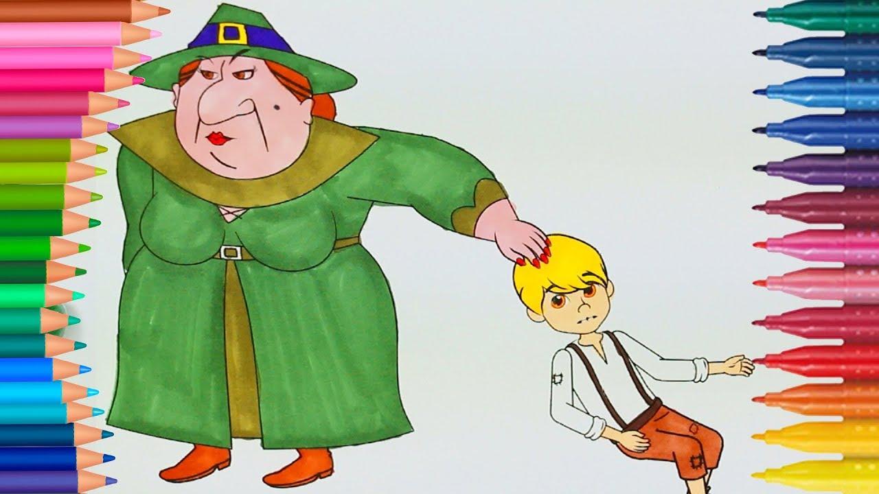 Hansel E Gretel Pagina Di Colorazione Video Colorati Divertenti