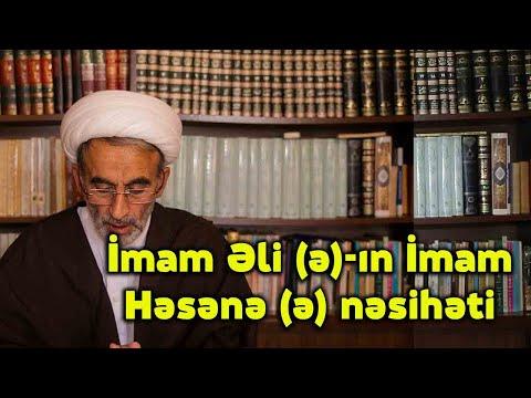 Hacı Əhlimanın Cümə moizəsi - İmam Əlinin (ə) İmam Həsənə (ə) nəsihəti (16.04.2021)