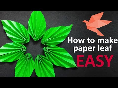 How to make A  Paper Leaf, Easy to make, DIY
