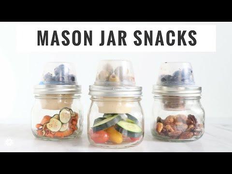 Savory Mason Jar Snack Ideas | Quick, Easy, Healthy, Vegan, Gluten-Free | Healthy Grocery Girl