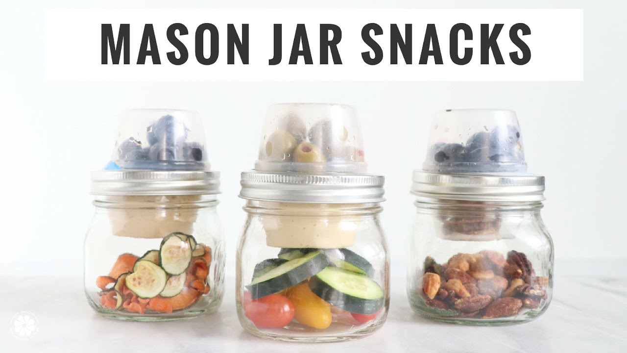 Savory Mason Jar Snack Ideas Quick Easy Healthy Vegan Gluten Free Healthy Grocery Girl Youtube
