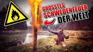 GRÖßTES SCHWEDENFEUER der WELT! 🌲🔥😱 Fritz Meinecke