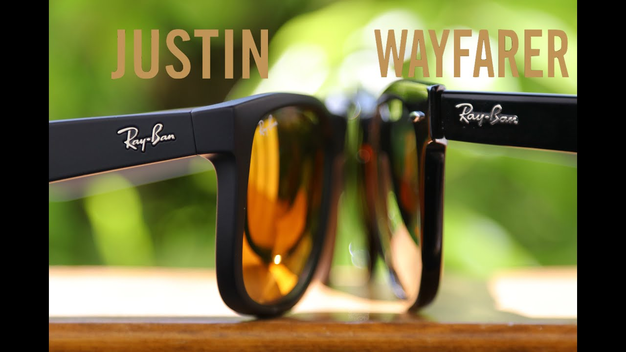 d14e99e0431ba Ray-Ban Justin vs Original Wayfarer - YouTube