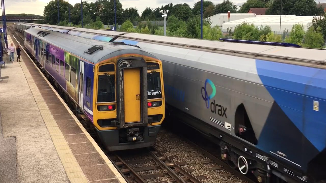 EWS 66194 At Hatfield & Stainforth From Drax Power Station To Immingham  Biomass