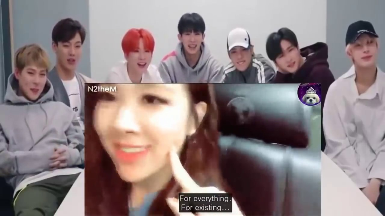 MONSTA X reaction to funny situations and beautiful moments (CHAELISA of  BLACKPINK)