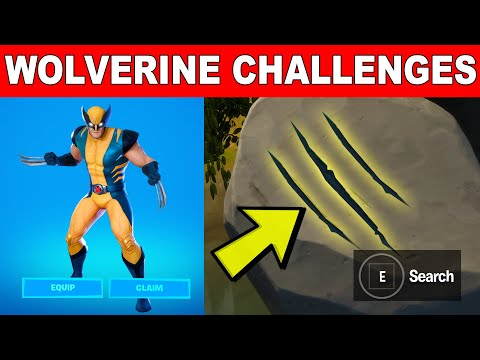 Investigate Mysterious Claw Marks - ALL 3 MYSTERIOUS CLAW MARKS LOCATIONS (Wolverine Challenges)