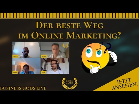 Affiliate Marketing, Dropshipping oder lokale Dienstleistungen? -  Business Gods Livestream thumbnail