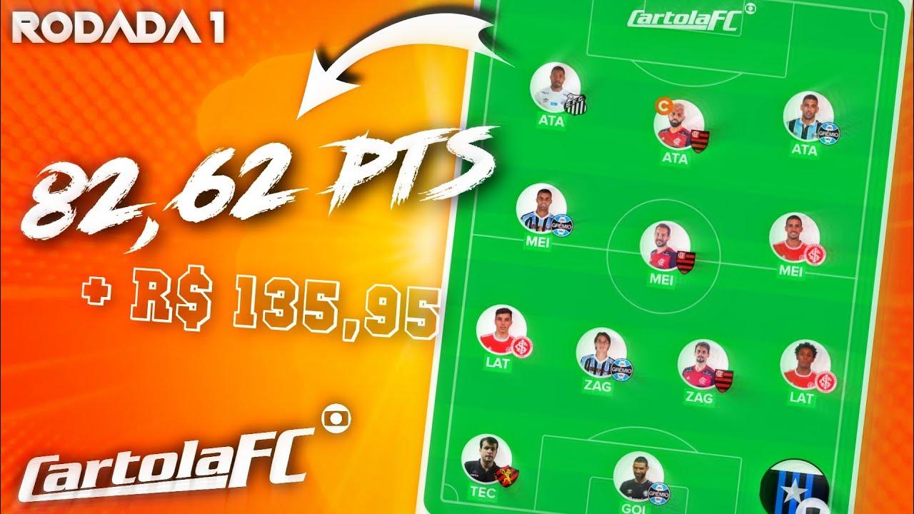 82,62 PTS NA 1° RODADA DO BRASILEIRÃO + NOSSA LIGA   Cartola FC 2020