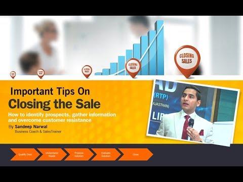 Important Closing Tips on Closing the Sale | सेल्स क्लोज करने के महत्वपूर्ण टिप्स  | Sandeep Narwal