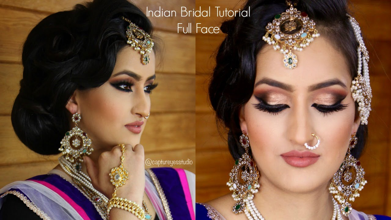 Indian Bridal Makeup Tutorial Full Face Gurp Dhaliwal ...