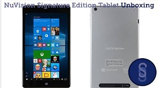 NuVision Signature Edition Tablet Unboxing & Overview