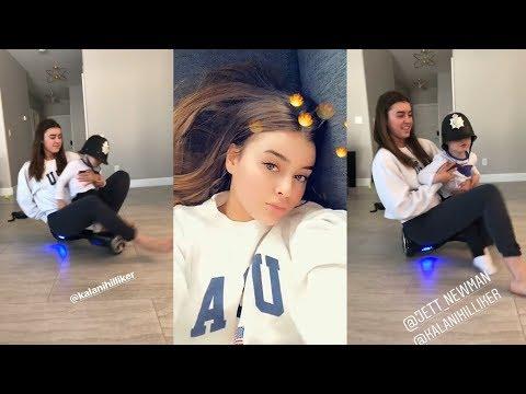 Kalani Hilliker  Snapchat Story  20 March 2018 w Baby Brother Jett