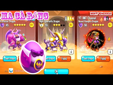 Dragon City Hexed Vampire and Professor Dragon 5 Sao Mới Thành Phố Rồng Dragon HNT Channel