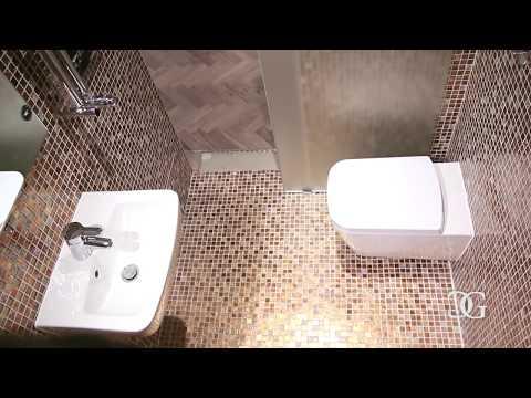 """Frosted Glass Sliding Door"" for Bathroom Installation - CreoGlass"