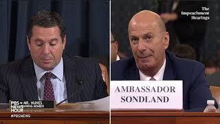 WATCH Sondland testimony provides zero evidence of Trump crimes in Ukraine Nunes says