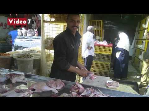 انخفاض حركة البيع و الشراء بسبب ارتفاع أسعار الخضراوات و اللحوم فى السوق