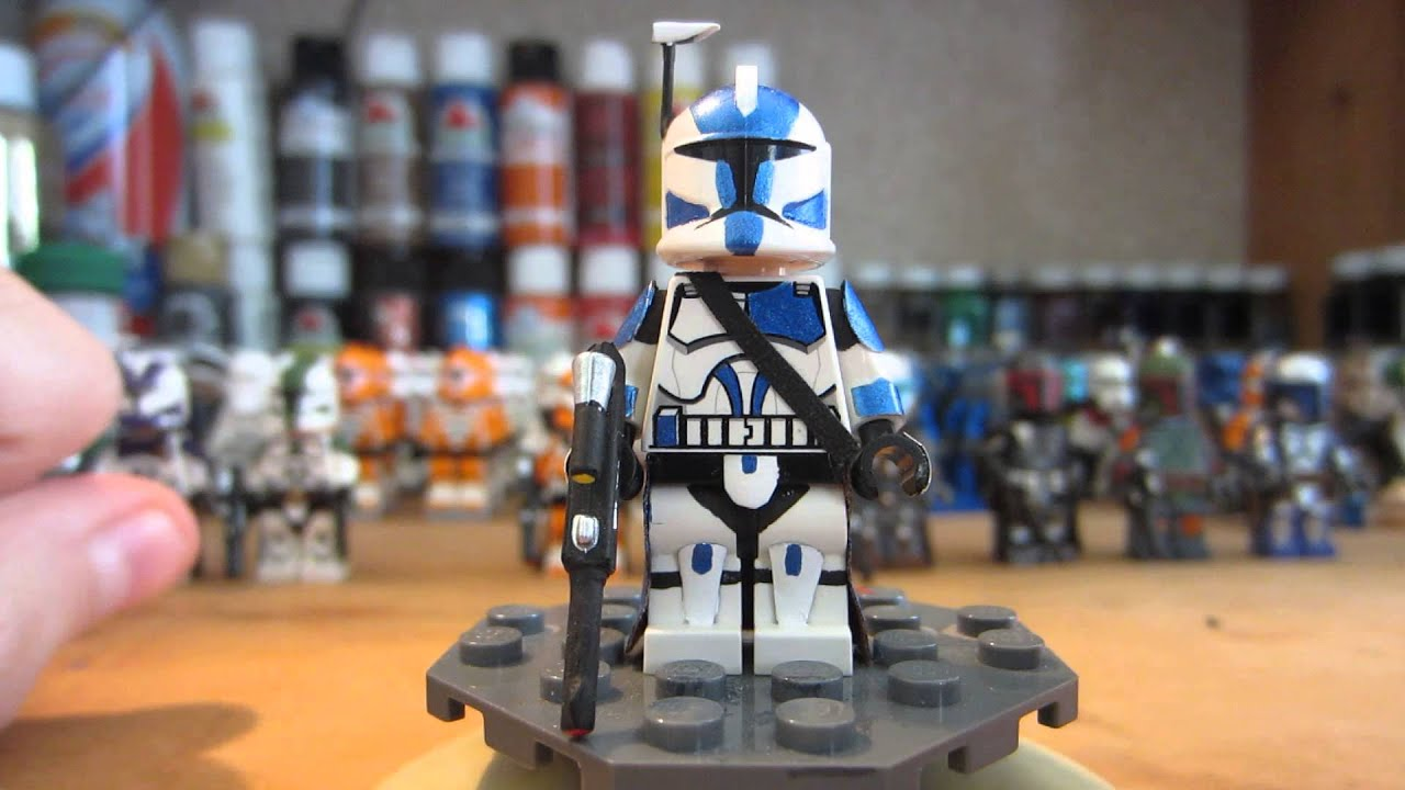 custom lego star wars 501st clone trooper minifigure hd - youtube