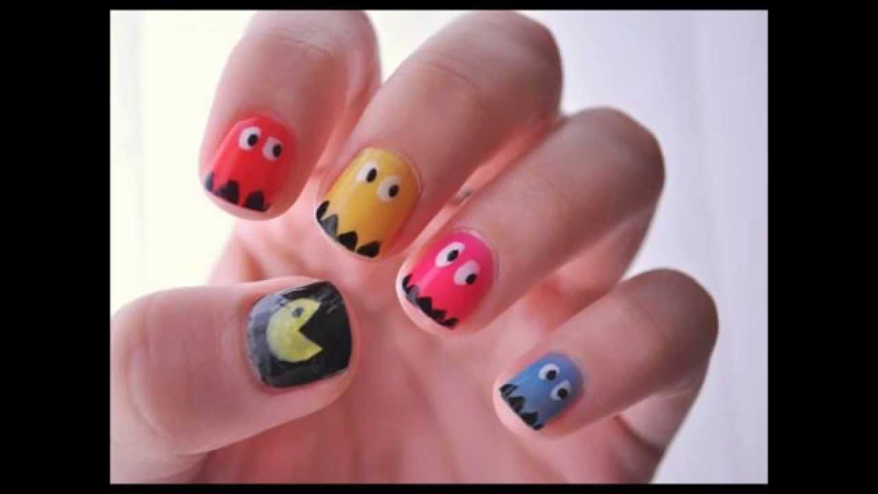 Muchas formas de pintar tus uñas (FORMAS) - YouTube