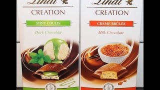 Lindt Creation: Mint Coulis & Crème Brulee Review