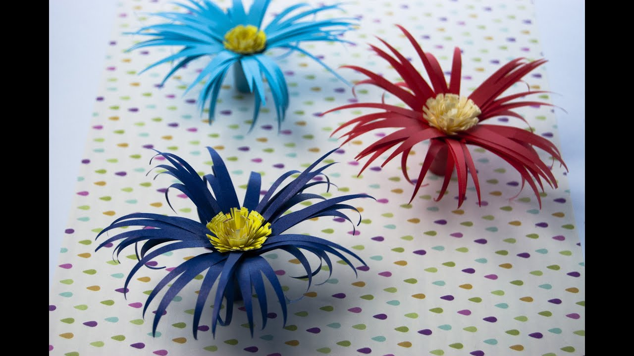 How To Make Paper Flower Chrysanthemum Youtube