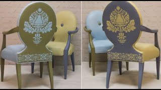 How To Stencil Tutorial: Upcycling Upholstery On A Chair With Chalk Paint® By Annie Sloan