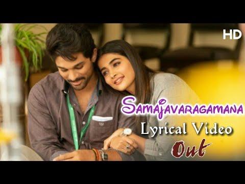 samajavaragamana-lyrical-video-song-hd-|-allu-arjun,-pooja-hedge-|-ala-vaikuntapuramlo-|-trivikram