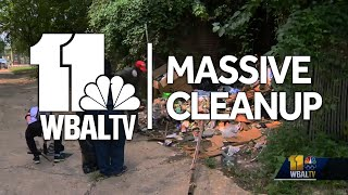Grassroots conservative activist gets volunteers to clean up west Baltimore